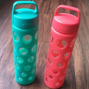 2 Ello Glass Water Bottles